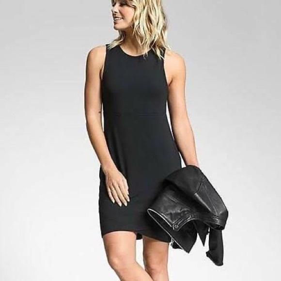 Athleta La Palma Dress Black Sz 1X